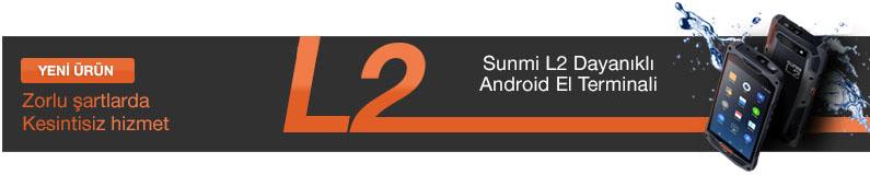 Sunmi L2 Dayanıklı Android El Terminali