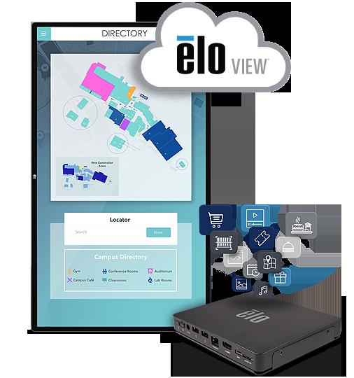 "Elo 5553L 55"" 4K Interactive Digital Signage Monitör"